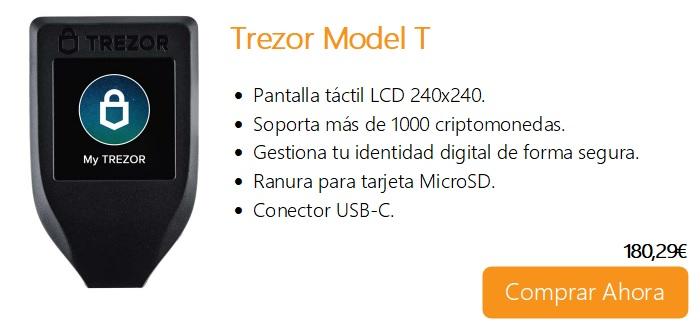 Comprar ahora wallet trezor model T