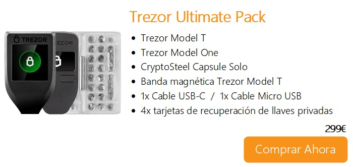 Comprar ahora Trezor Ultimate Pack